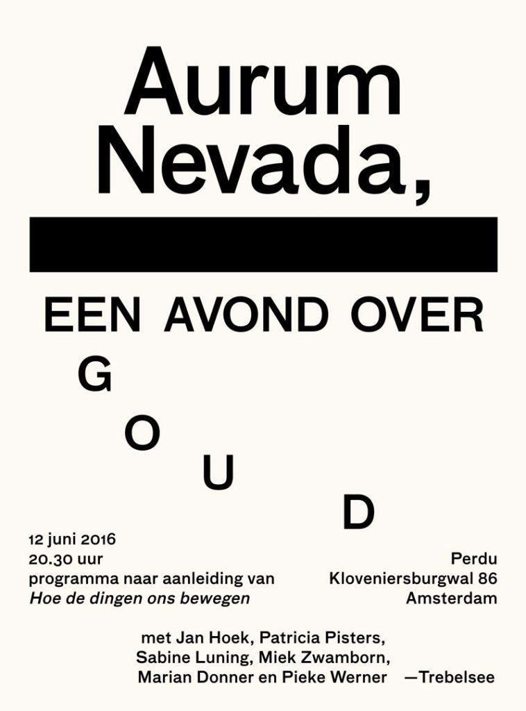 Aurum Nevada, een avond over goud